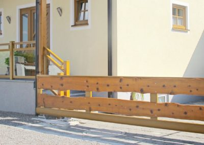 Rahmen Schiebetor & Glasal Geländer
