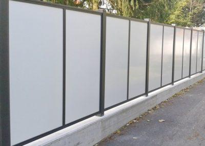 Flat-Design Zaun Vollblech